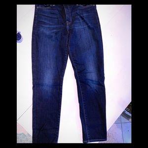 Lucky Brand dark denim ankle jeans
